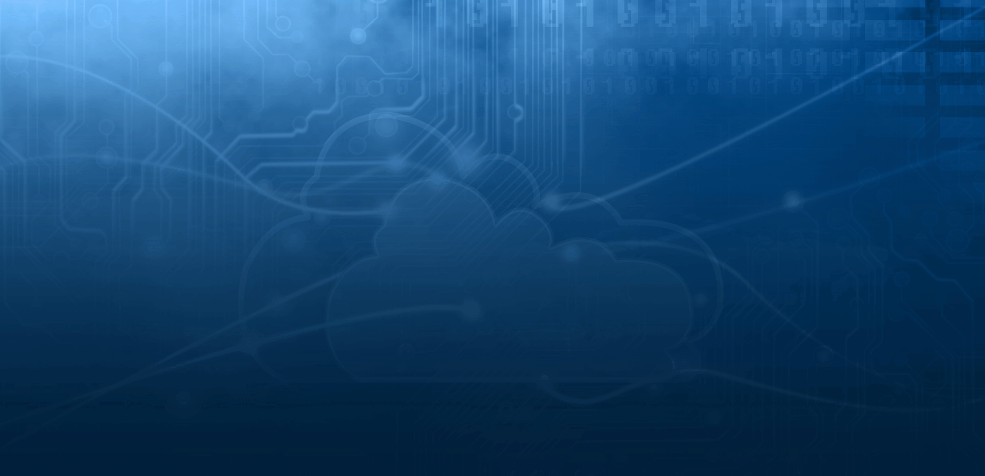 Cloud computing database banner