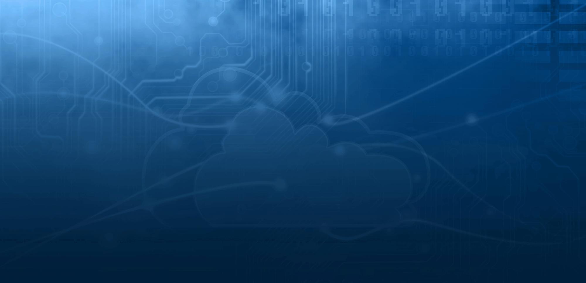Banner de base de datos de computación en la nube