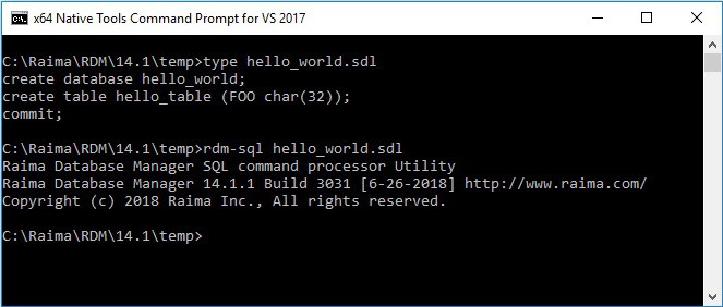 how to create a database in sql command
