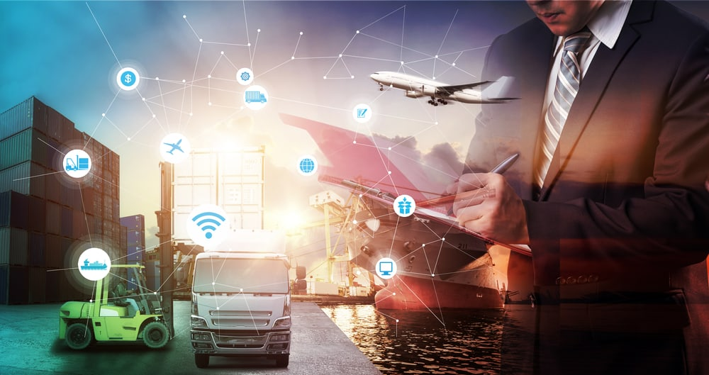 Ship and cargo connected by iot