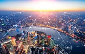 Connected city with iot devices